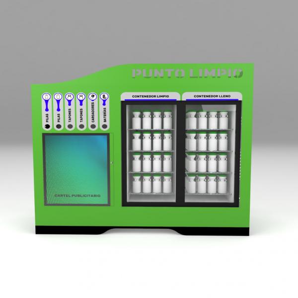 Armario contenedor para reciclaje